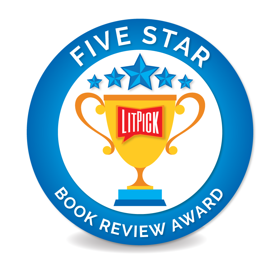 The LitPick Five Star Book Award in gold