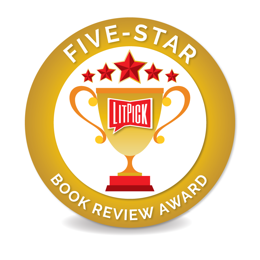 The LitPick Five Star Book Award in blue