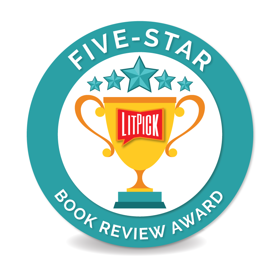 The LitPick Five Star Book Award in turquoise
