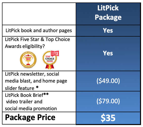 LitPick Book Reviews Book Promotional Package