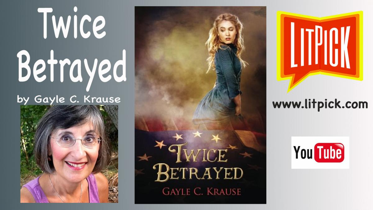 YouTube book review video of Twice Betrayed by Gayle C. Krause for LitPick student book reviews.