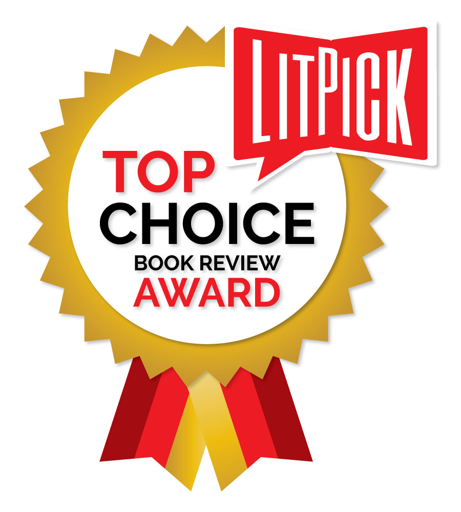 The LitPick Top Choice Award graphic in gold