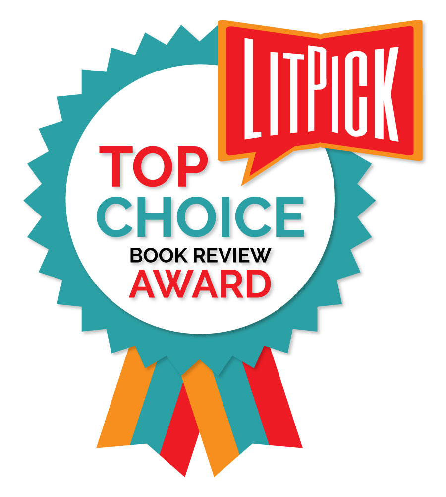 The LitPick Top Choice Award graphic in turquoise