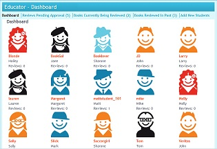 Book Clubs use our teacher and librarian LitPick Educator Dashboard